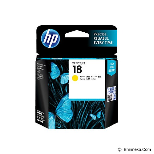 HP Yellow Ink Cartridge 18 [C4939A] - Tinta Printer Hp